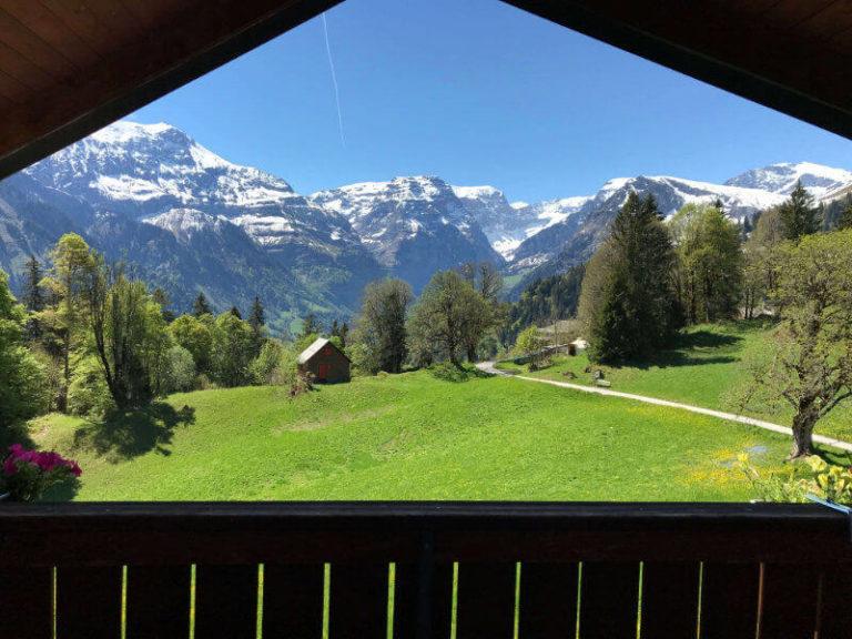 Aussicht aus dem Fenster eines Zimmers im Hotel Cristal